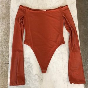 ALIX high leg flared sleeve bodysuit XS